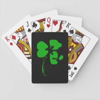 St. Patrick's Day Green Clover - Playing Cards