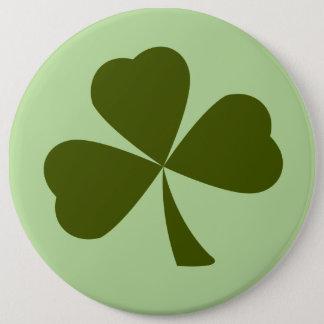St. Patrick's Day Green Clover Shamrock Button