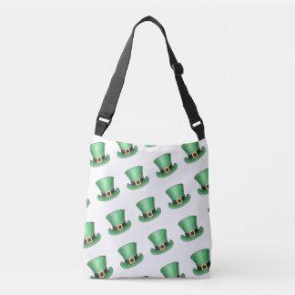 St Patrick's Day Green Top Hat Crossbody Bag