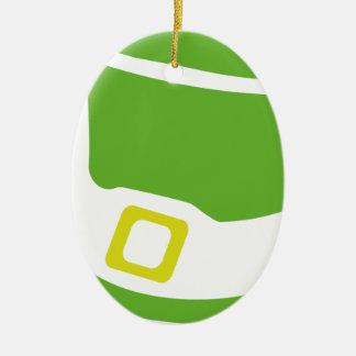 st. patrick´s day hat ceramic oval decoration