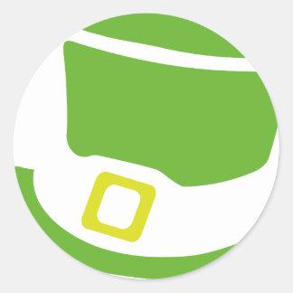 st. patrick´s day hat round sticker