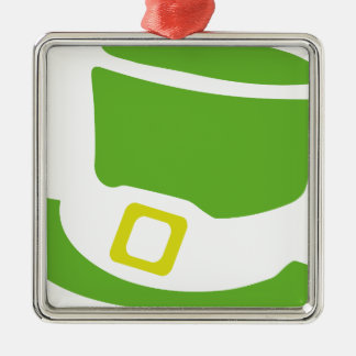 st. patrick´s day hat Silver-Colored square decoration