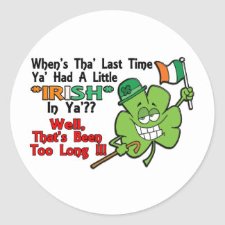 St Patrick s Day Items Round Stickers