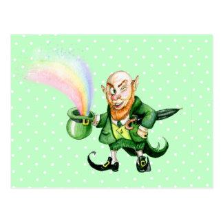 St. Patrick`s Day leprechaun Postcard