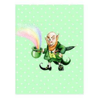 St. Patrick`s Day leprechaun Post Cards