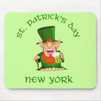 St Patrick s Day New York Patty O party Mouse Mats