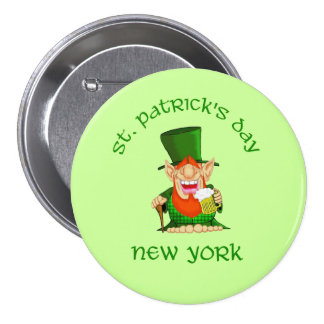 St Patrick s Day New York Patty O party Pin