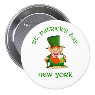 St Patrick s Day New York Patty O party Pins