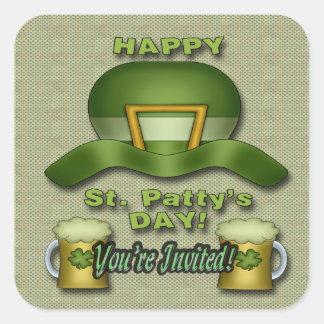 St Patrick s Day Party Invitation envelope seal Sticker