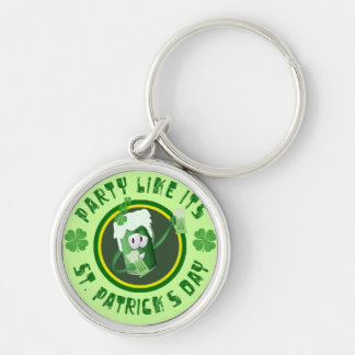 St Patrick s Day Party Keychain