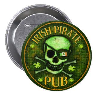 St Patrick s Day Pirate Irish Pub Button