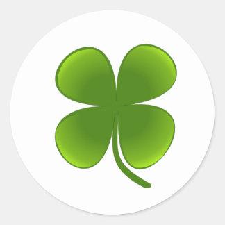 St. Patrick's Day - Shamrock Classic Round Sticker