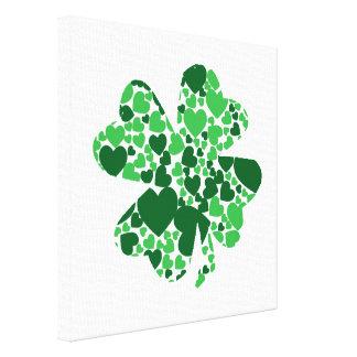 St. Patrick's Day Shamrock Clover Canvas Print
