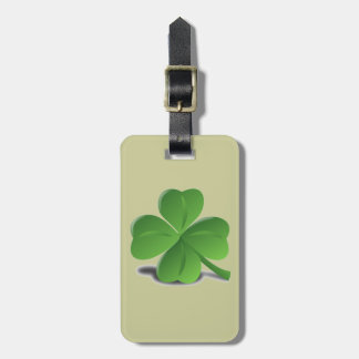 St. Patrick's Day  Shamrock Clover Luggage Tag
