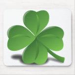St. Patrick's Day Shamrock Clover Mousepad