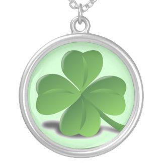St. Patrick's Day Shamrock Clover Necklace