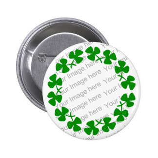 St. Patrick's Day Shamrock Clover Ring Button