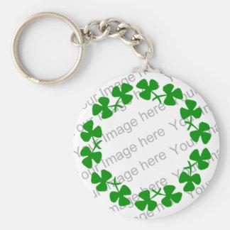 St. Patrick's Day Shamrock Clover Ring Keychain