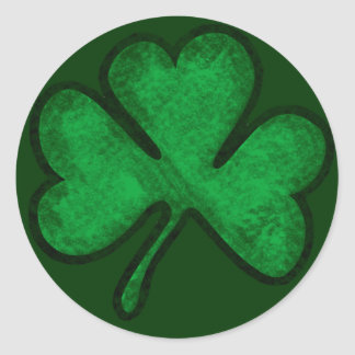 St Patrick s Day Shamrock Round Sticker