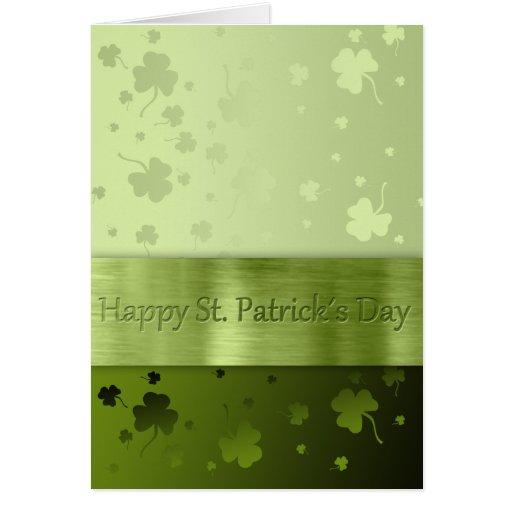 St. Patrick´s Day Shamrocks - Greeting Card