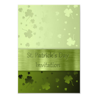 St. Patrick´s Day Shamrocks - Invitation