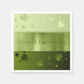 St. Patrick´s Day Shamrocks - Paper Napkin