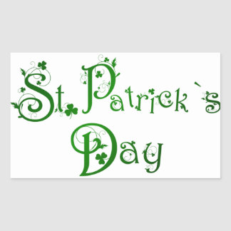 St Patrick s Day Rectangle Stickers