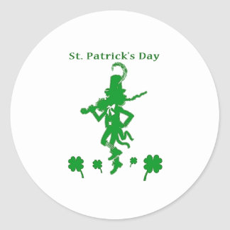 St Patrick s Day Round Stickers