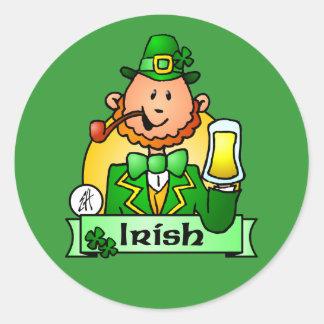 St Patrick s Day Round Sticker