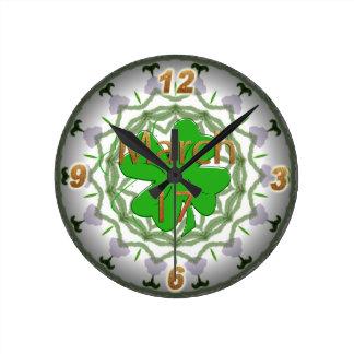 St Patrick s Day Wall Clock