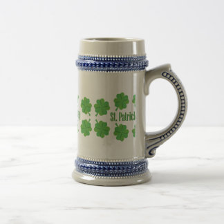 St. Patrick's Day with clover Beer Stein