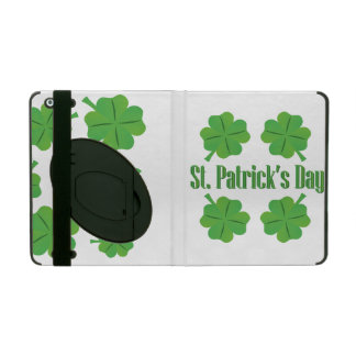 St. Patrick's Day with clover Case For iPad