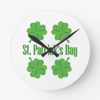 St. Patrick's Day with clover Clocks