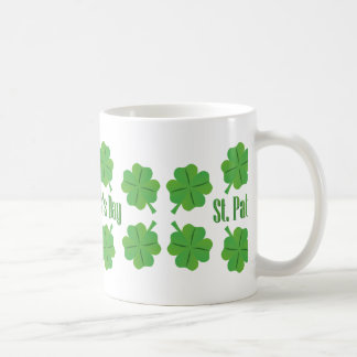 St. Patrick's Day with clover Coffee Mug