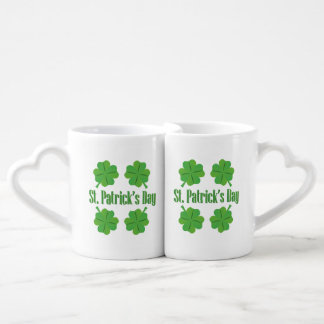 St. Patrick's Day with clover Coffee Mug Set