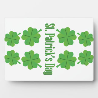 St. Patrick's Day with clover Display Plaque