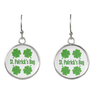 St. Patrick's Day with clover Earrings