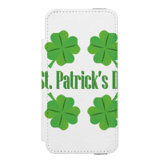 St. Patrick's Day with clover Incipio Watson™ iPhone 5 Wallet Case