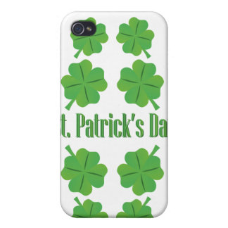 St. Patrick's Day with clover iPhone 4 Case