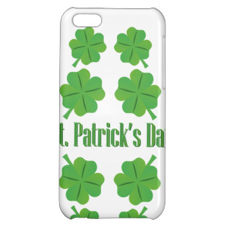 St. Patrick's Day with clover iPhone 5C Covers