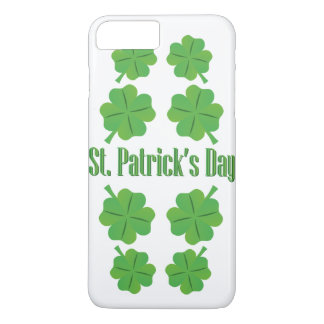 St. Patrick's Day with clover iPhone 7 Plus Case