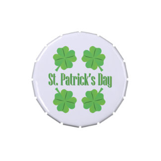 St. Patrick's Day with clover Jelly Belly Candy Tins
