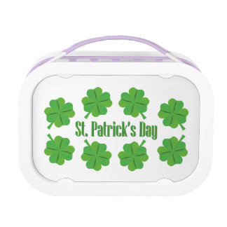 St. Patrick's Day with clover Lunch Box