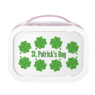 St. Patrick's Day with clover Lunchbox