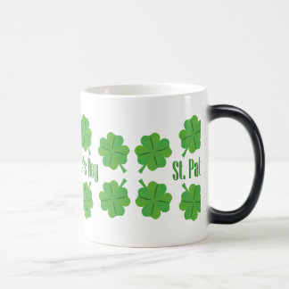St. Patrick's Day with clover Magic Mug