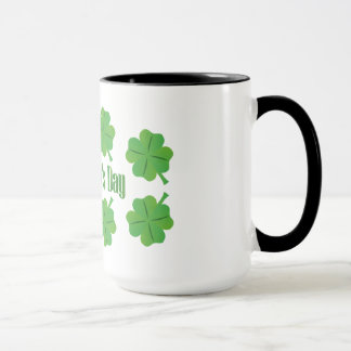 St. Patrick's Day with clover Mug