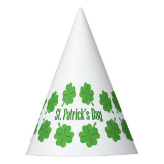 St. Patrick's Day with clover Party Hat