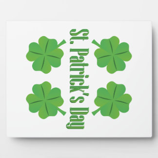 St. Patrick's Day with clover Photo Plaques