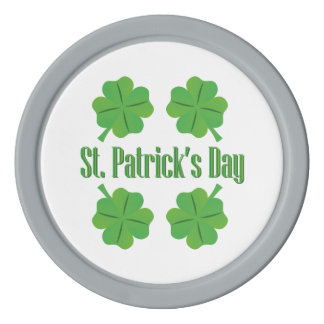 St. Patrick's Day with clover Set Of Poker Chips