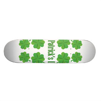 St. Patrick's Day with clover Skate Board